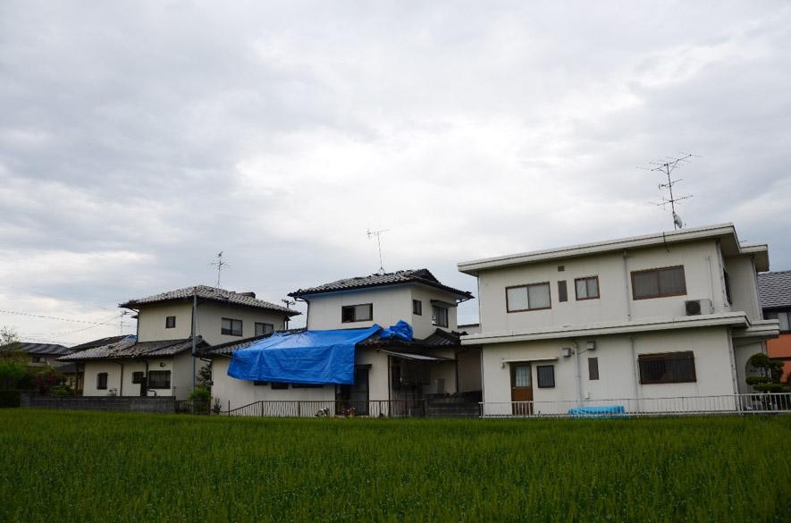 工法の異なる家々