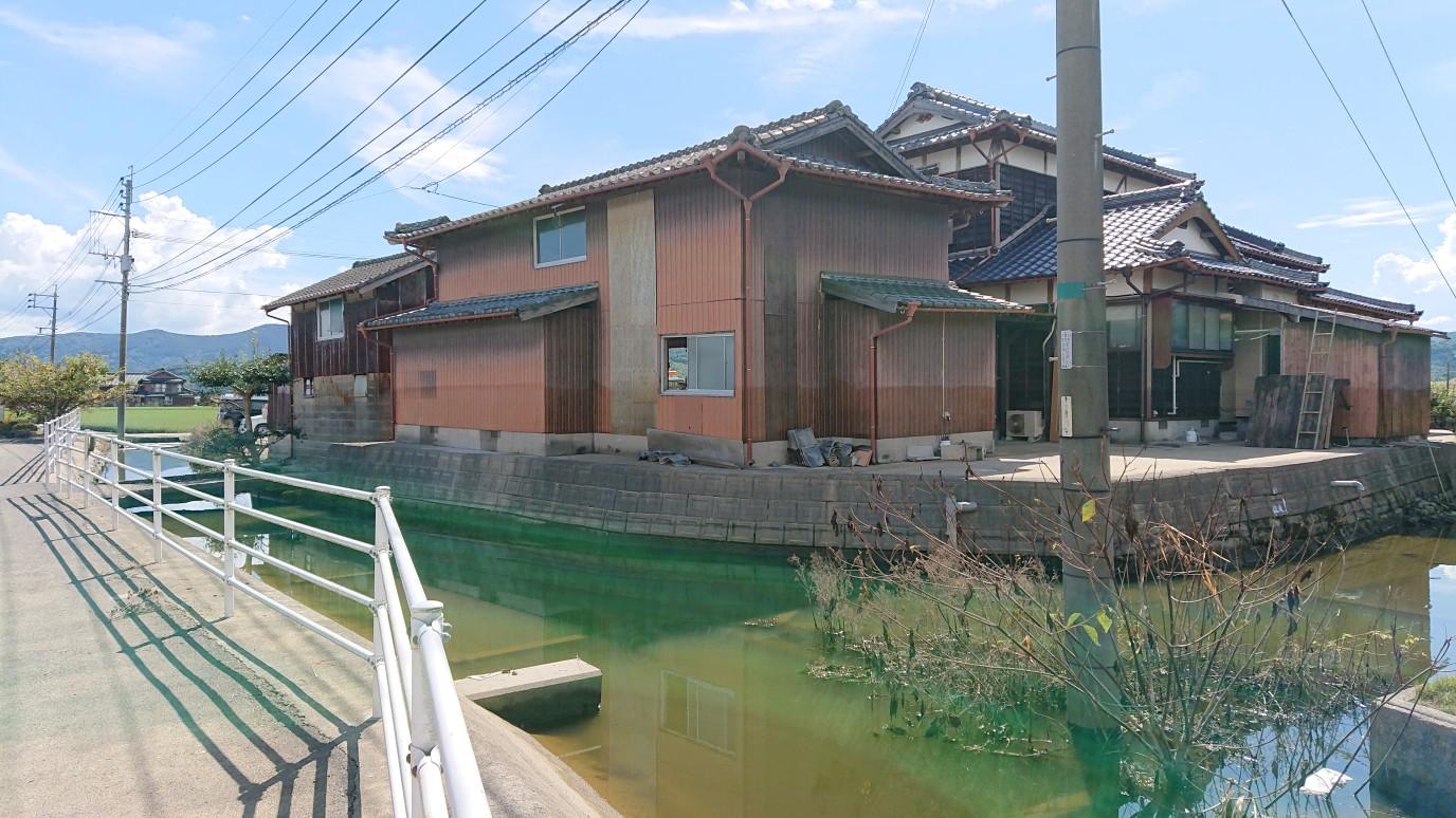 水害に見舞われた武雄市の住宅